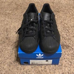 Adidas all black superstar 2 w sneakers